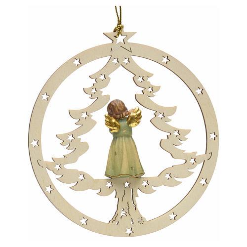 Décoration sapin Noël ange avec flute 2