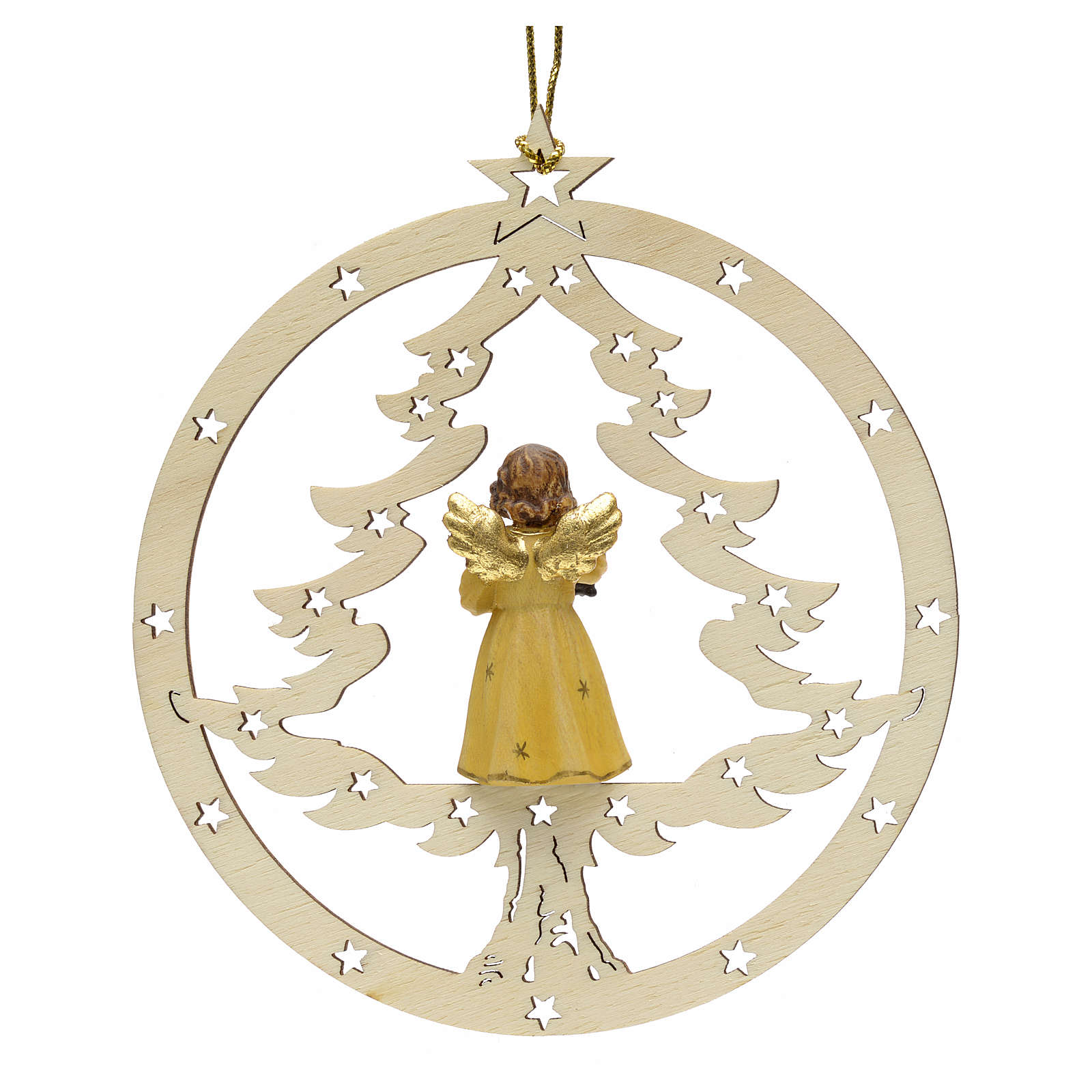 Décoration sapin Noël ange avec lanterne 4