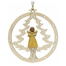 Décoration sapin Noël ange avec lanterne s2