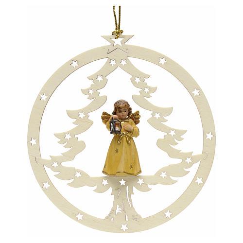 Décoration sapin Noël ange avec lanterne 1