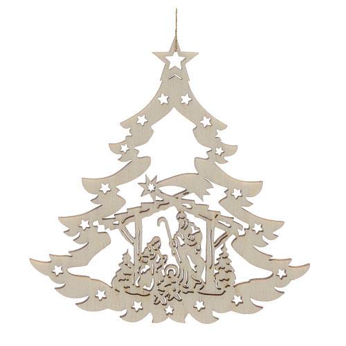 decoración navidad árbol con pesebre madera venta online en holyart