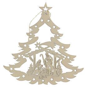 Addobbo natalizio albero con presepe legno s2