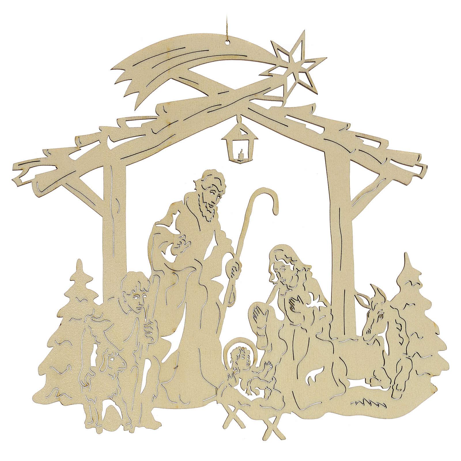 Weihnachtsschmuck aus Holz: Krippe 4