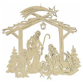Weihnachtsschmuck aus Holz: Krippe s2