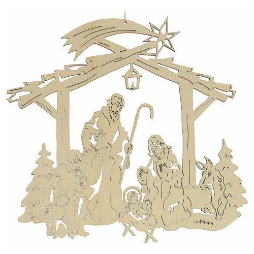 Weihnachtsschmuck aus Holz: Krippe 2