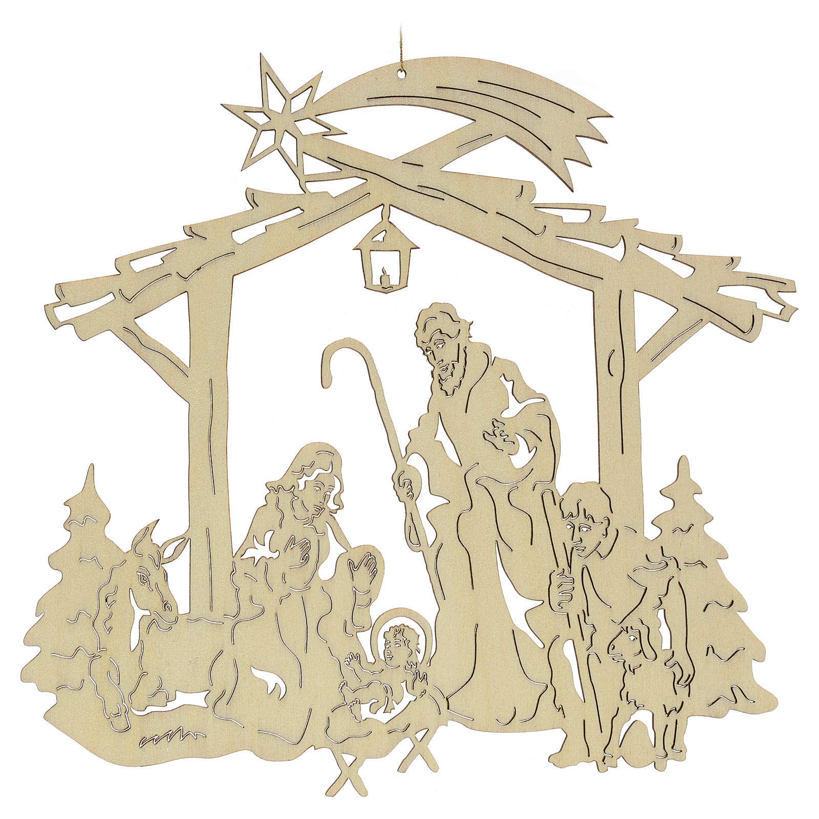 Addobbo natalizio per albero: presepe 4