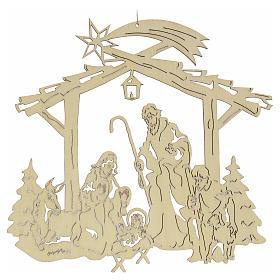 Ozdoby choinkowe z drewna i pvc: Ozdoba bożonarodzeniowa na choinkę: szopka
