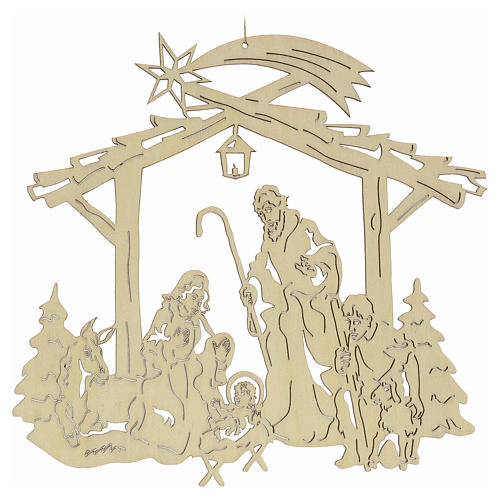 Christmas tree decoration, nativity 1