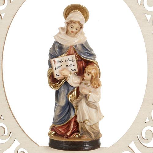 Decorazione albero Sant'Anna e Maria bambina legno 2