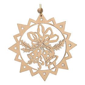 Decoración de Navidad estrella tallada campanillas s1