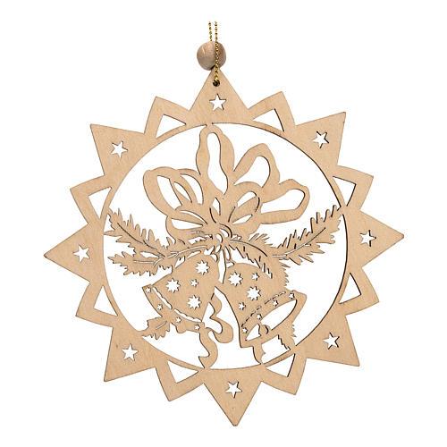 Decoración de Navidad estrella tallada campanillas 1