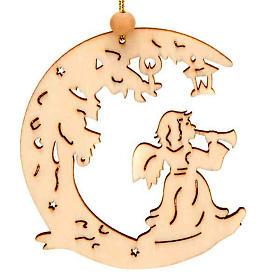 Decoración de Navidad para colgar ángel con luna s1