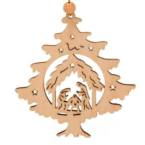 Ornement Noël sapin avec Nativité 1