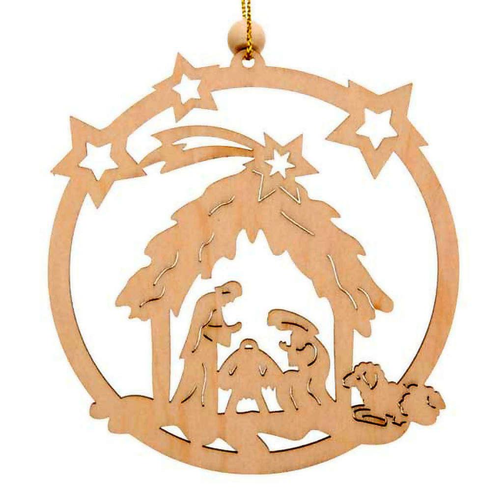 Decoro Natale cerchio stelle Sacra Famiglia 4