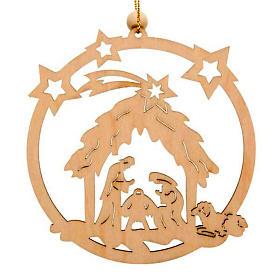 Decoro Natale cerchio stelle Sacra Famiglia s1