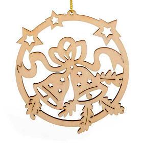 Adornos de madera y pvc para Árbol de Navidad: Decoración de Navidad círculo estrellas campanilla