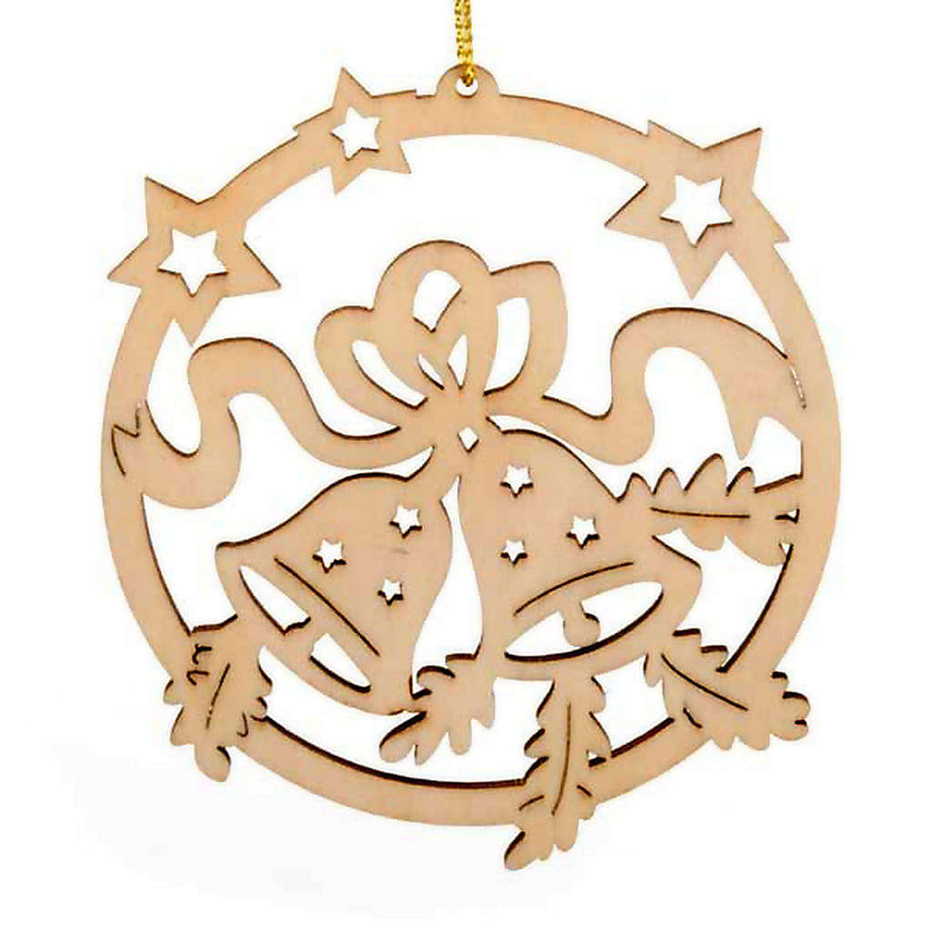 Christmas tree decoration, circle with stars and bells 4