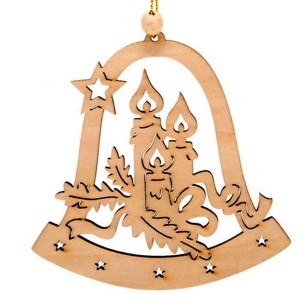 Christmas tree decoration, bell with candles 4