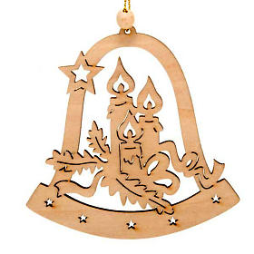 Christmas tree decoration, bell with candles s1
