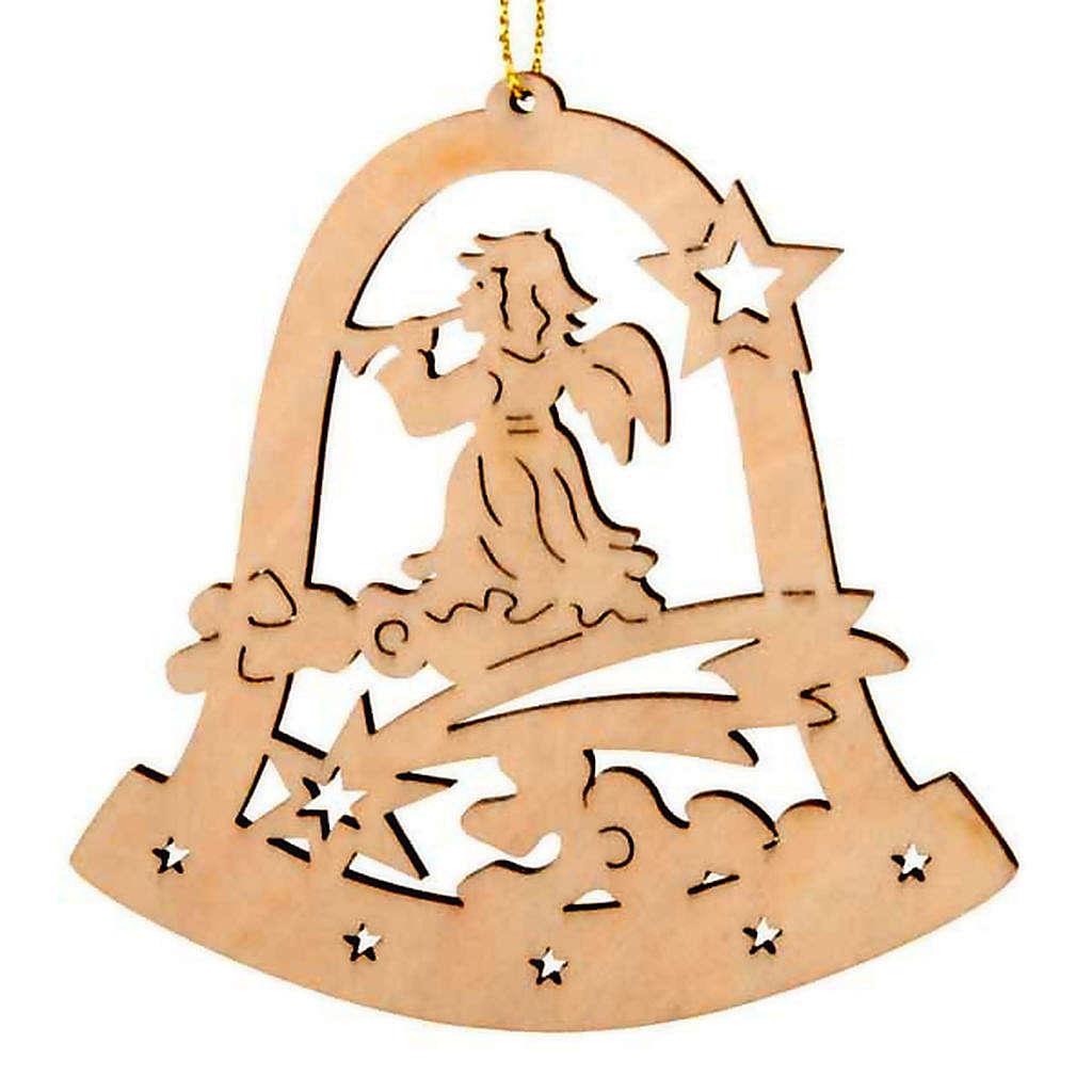 Decoro Natale campana angelo con corno 4