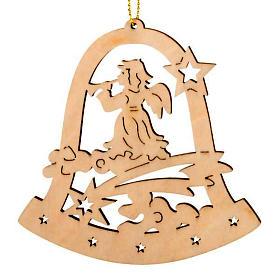 Decoro Natale campana angelo con corno s1