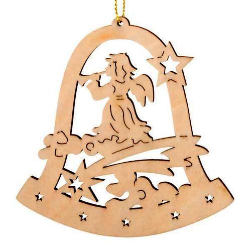 Decoro Natale campana angelo con corno 1