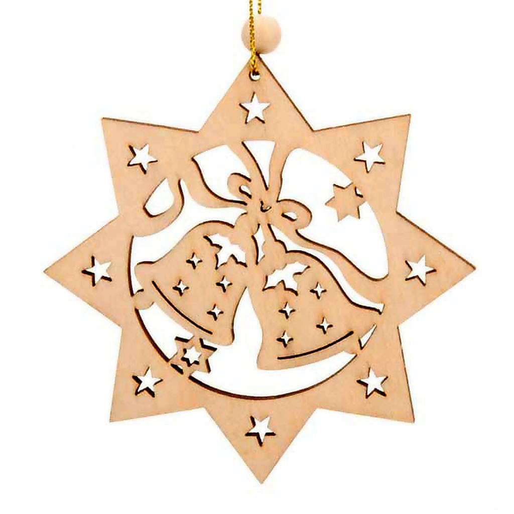 Ornement Noël étoile 8 branches clochettes 4