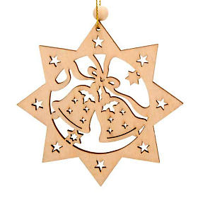Ornement Noël étoile 8 branches clochettes s1