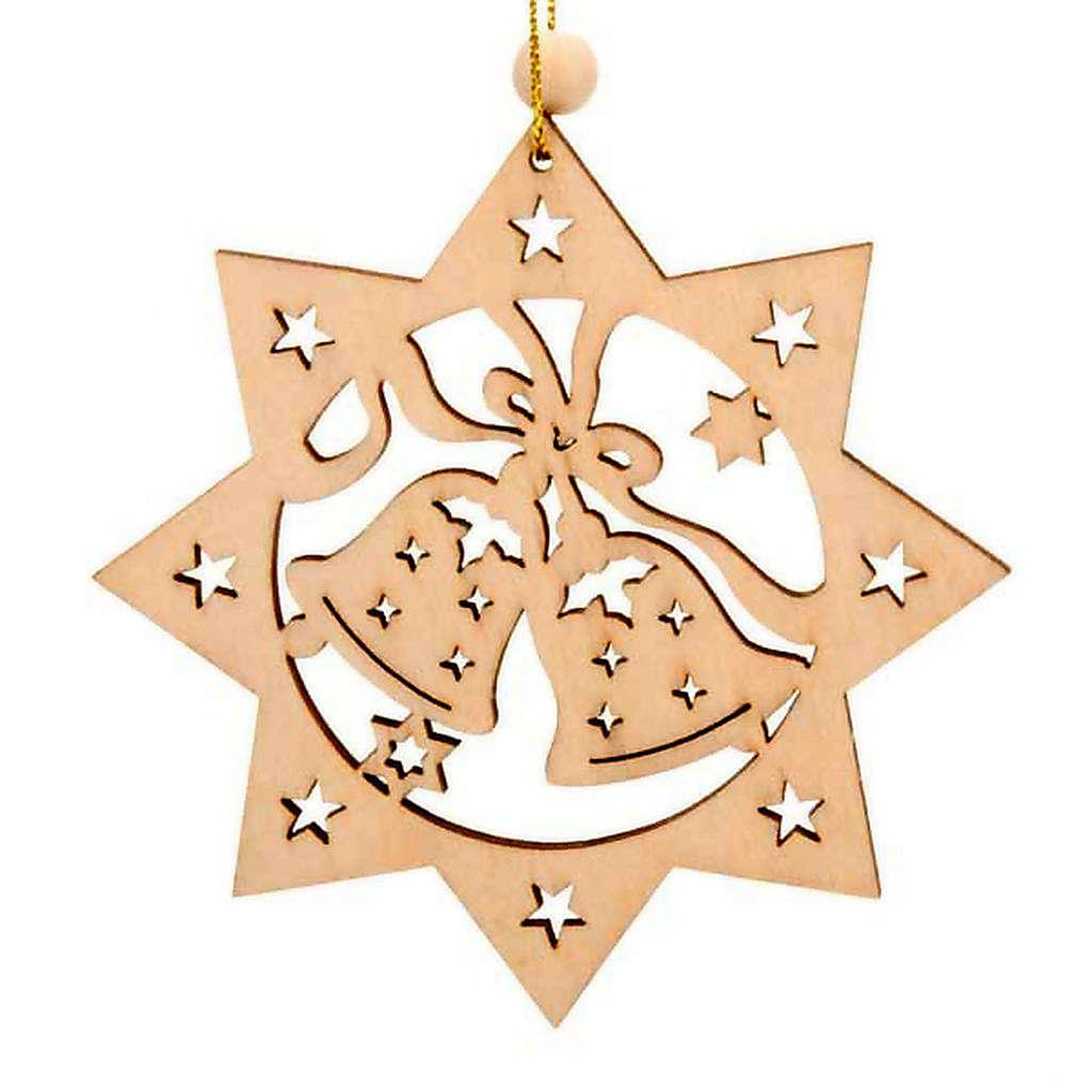 Decoro albero Natale stella 8 punte campane 4