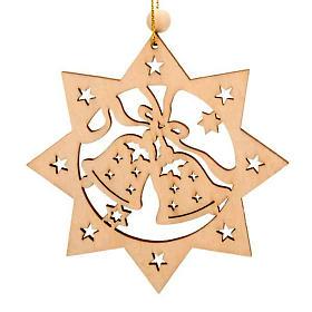 Decoro albero Natale stella 8 punte campane s1