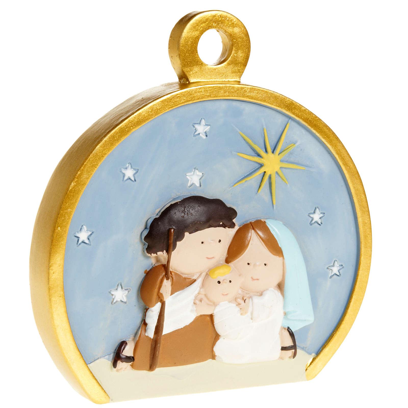 Ornement Nativité stylisée ronde 4