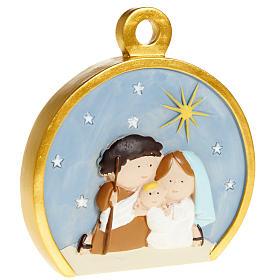 Christmas tree decoration, stylised round nativity s1