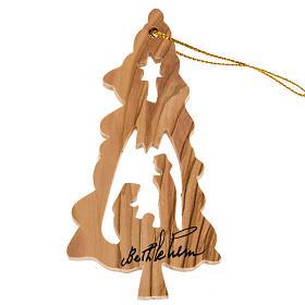 Décoration Noel bois olivier sapin étoile Nativité s1