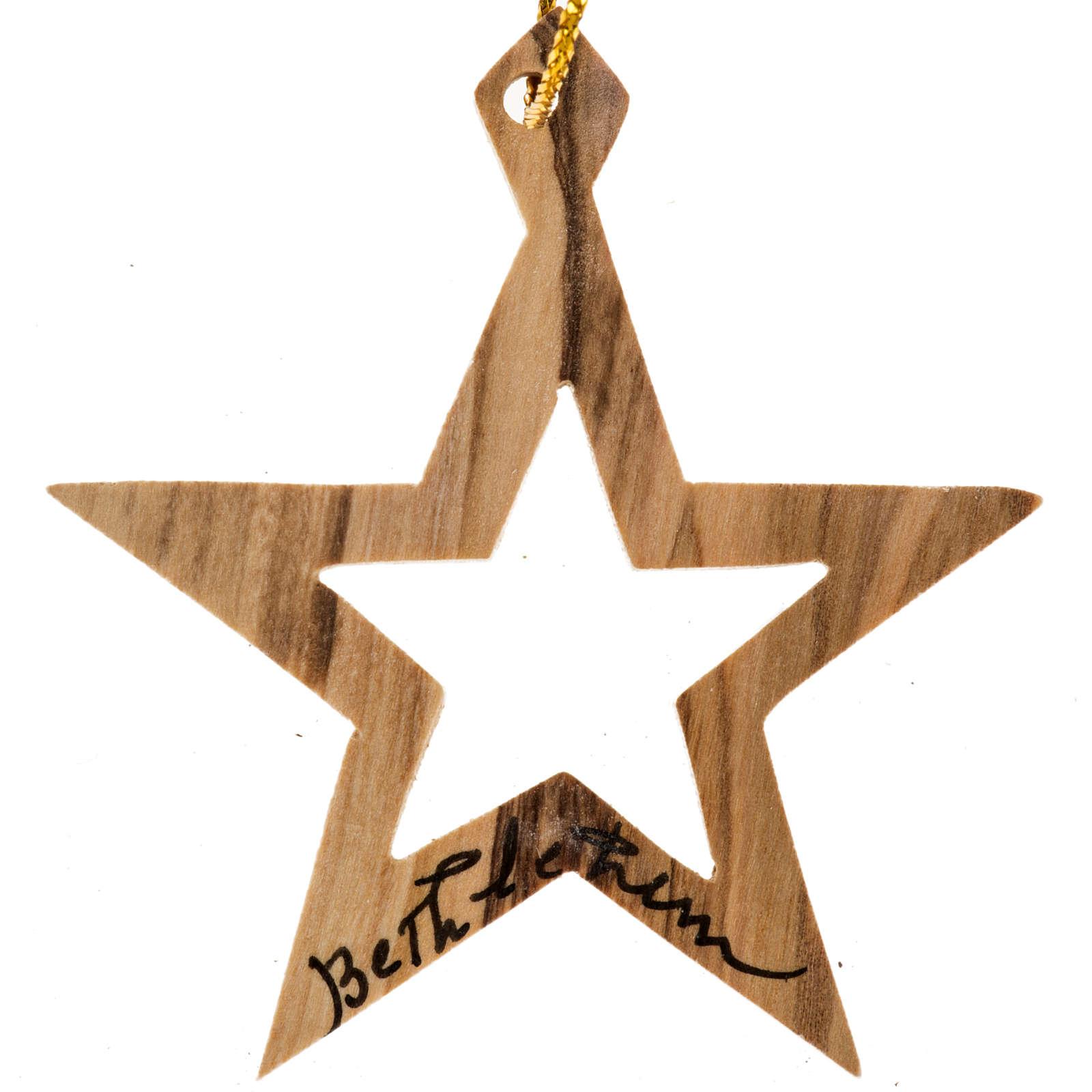 Addobbo albero legno ulivo Betlemme stella 4