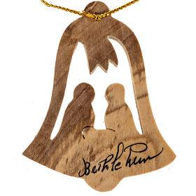 Addobbo albero legno ulivo Betllemme campana Natività s1