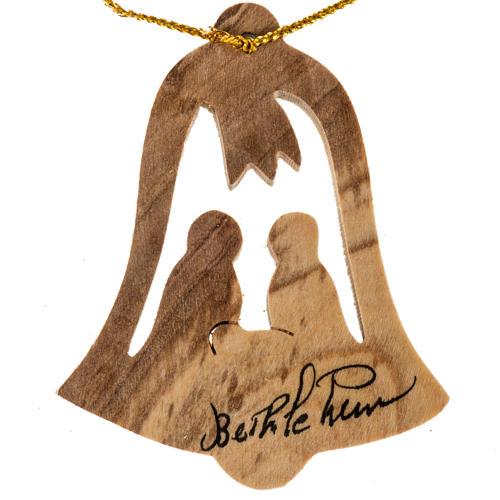 Addobbo albero legno ulivo Betllemme campana Natività 1