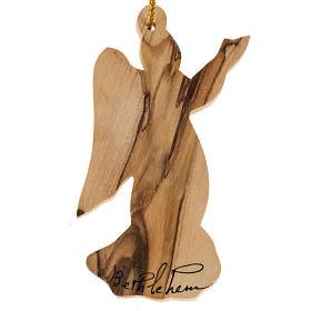 Christmas tree angel decoration Holy Land olive wood. s1
