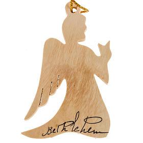 Christmas tree decoration, angel Bethlehem olive wood Holy Land s1