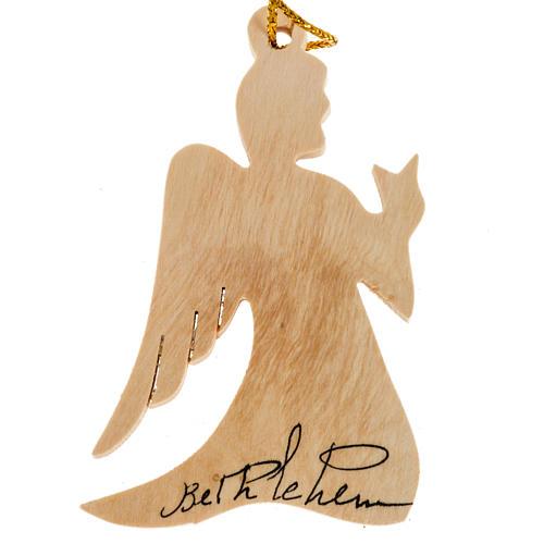 Christmas tree decoration, angel Bethlehem olive wood Holy Land 1