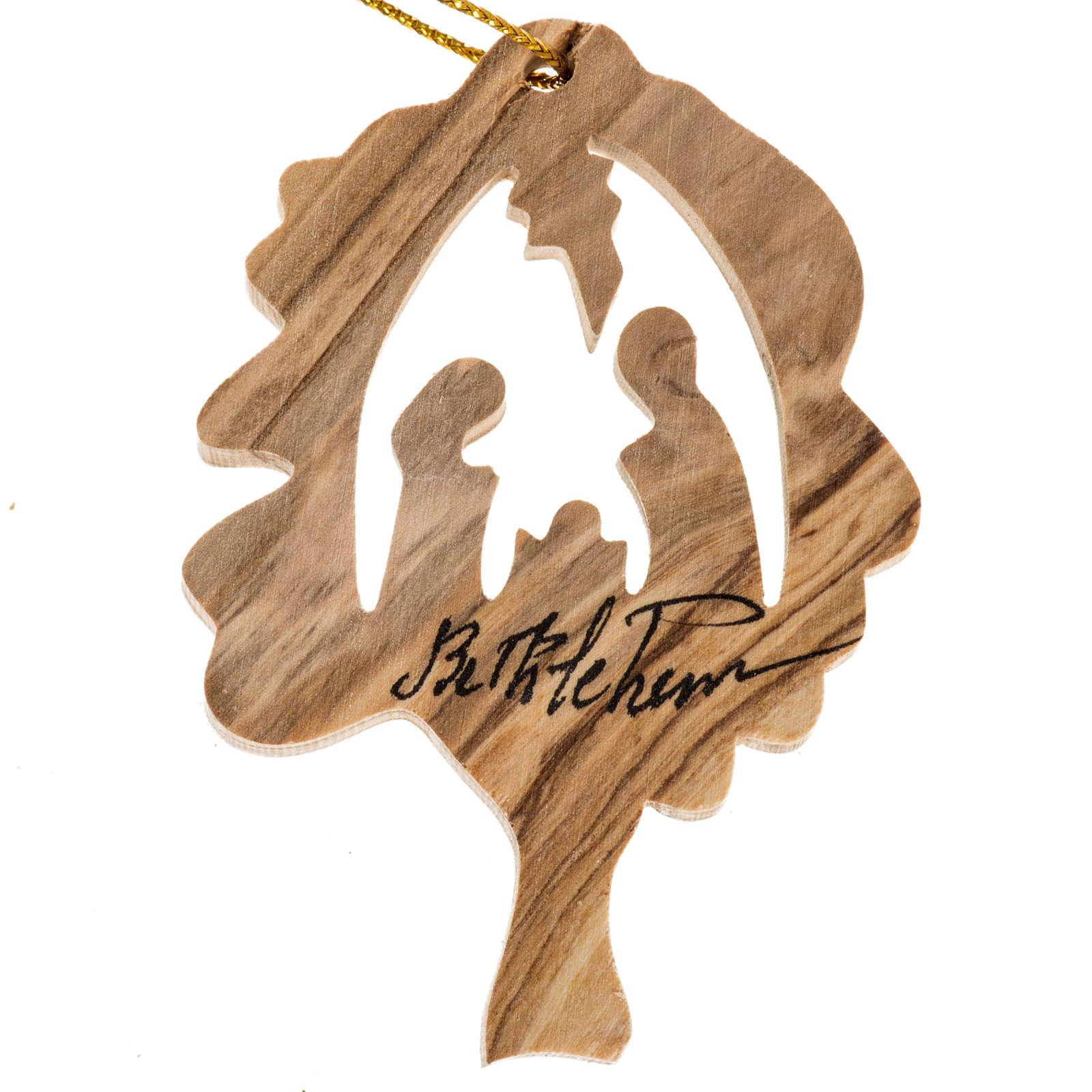Décoration Noel bois olivier arbre Nativité 4