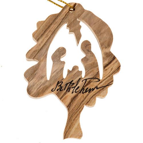 Décoration Noel bois olivier arbre Nativité 1