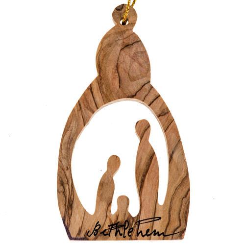 Addobbo albero legno olivo Palestina Natività stilizzata 1