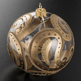 Pallina albero Natale trasparente oro gocce 10cm s2