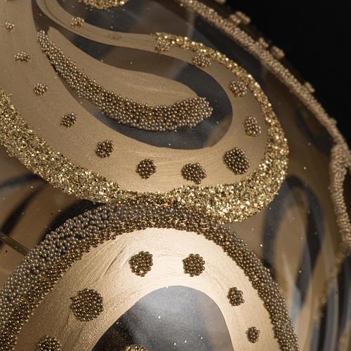 Pallina albero Natale trasparente oro gocce 10cm 3