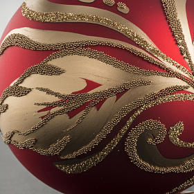 Christmas bauble with artistic gold decorations, 8cm s4