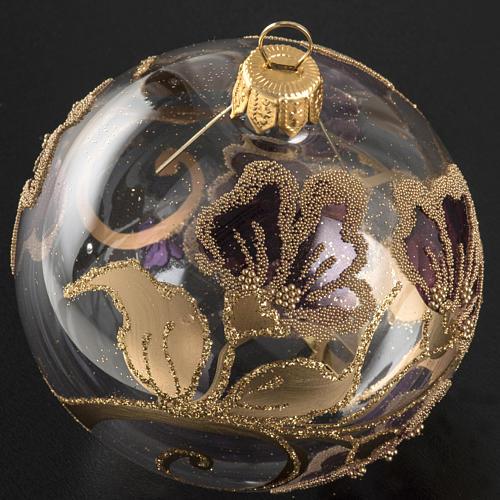 Pallina albero Natale vetro soffiato fucsia 8cm 2