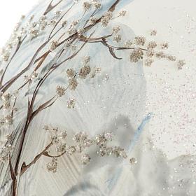 Palla albero Natale vetro paesaggio neve 15 cm s3