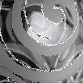 Palla albero Natale vetro trasparente decori 15 cm s3
