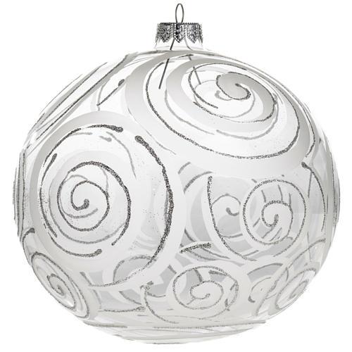 Palla albero Natale vetro trasparente decori 15 cm 1