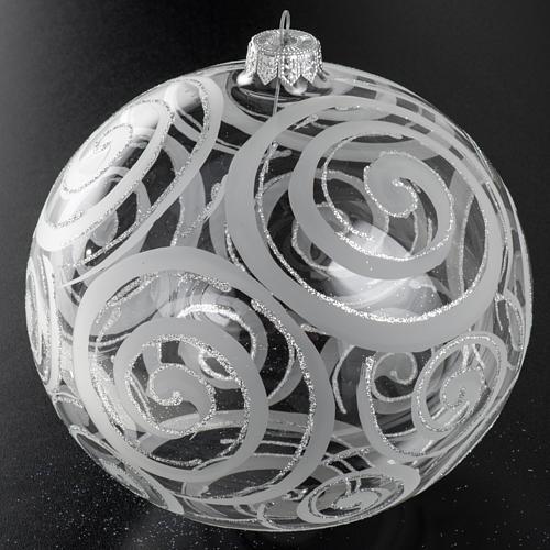 Palla albero Natale vetro trasparente decori 15 cm 2